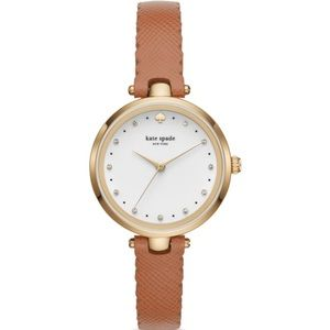 NWT Kate Spade Brown and Gold Holland Watch, 34mm